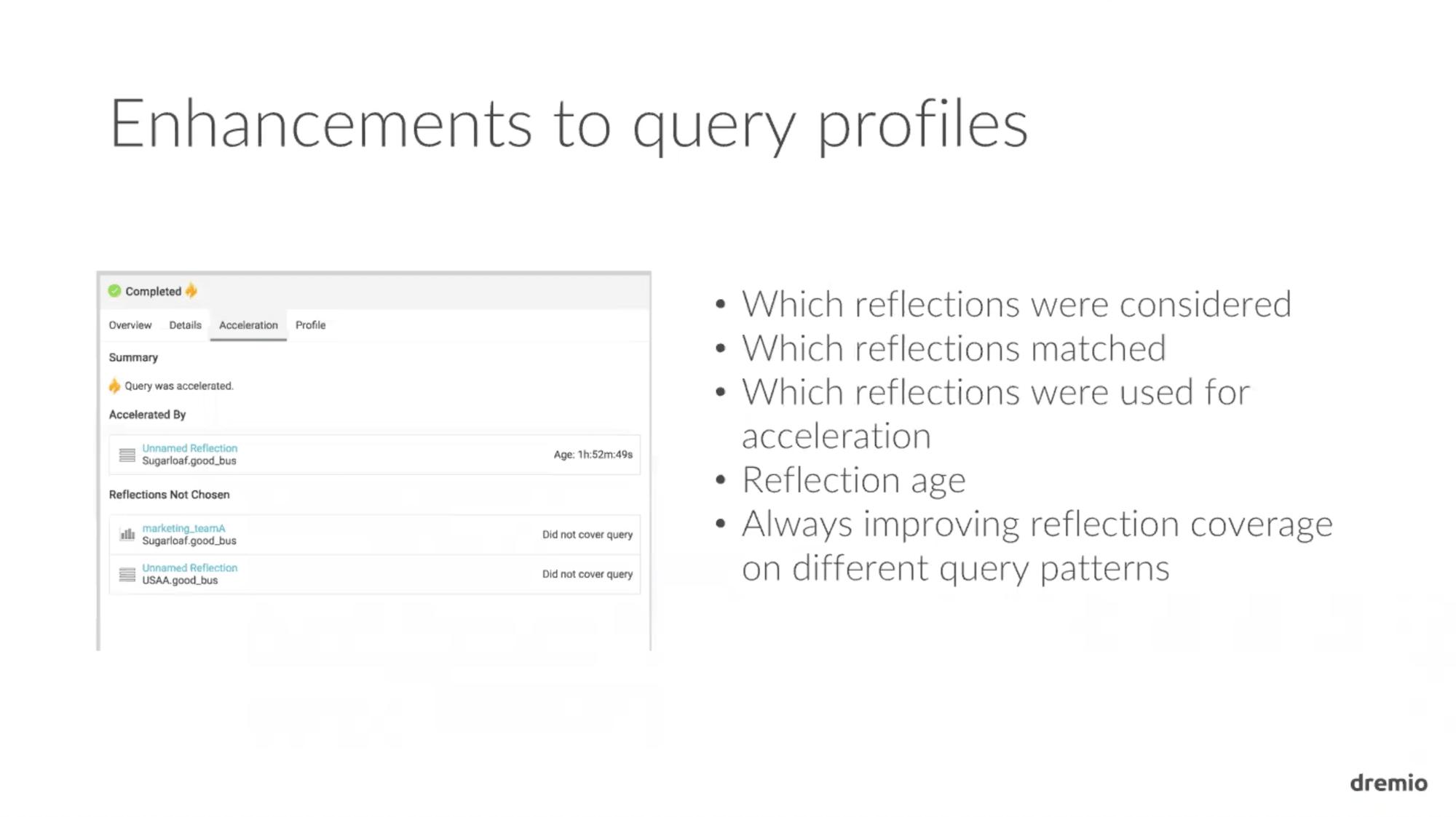 Dremio 1.3 Enhancements to Query Profiles