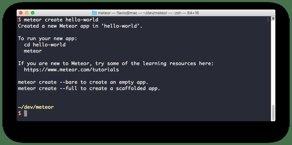 Create a Meteor app