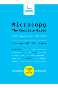 Book cover for Microcopy: The Complete Guide by Kinnerest Yifrah
