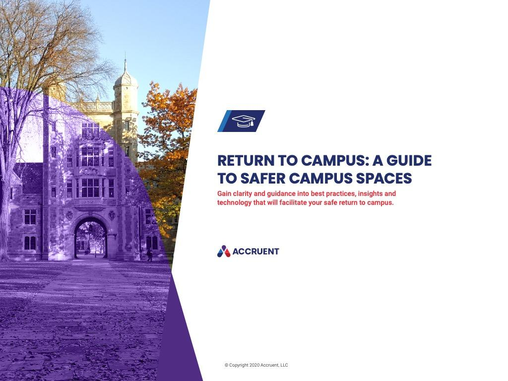Accruent - Resources - eBooks - Return To Campus: A Guide to Safer Campus Spaces - Cover Image