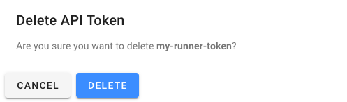 token delete