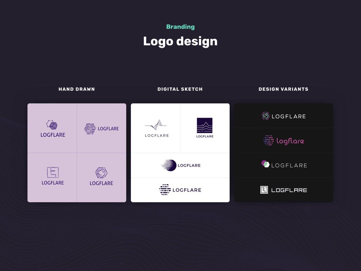 Logo Design Process - UI Design | Logflare