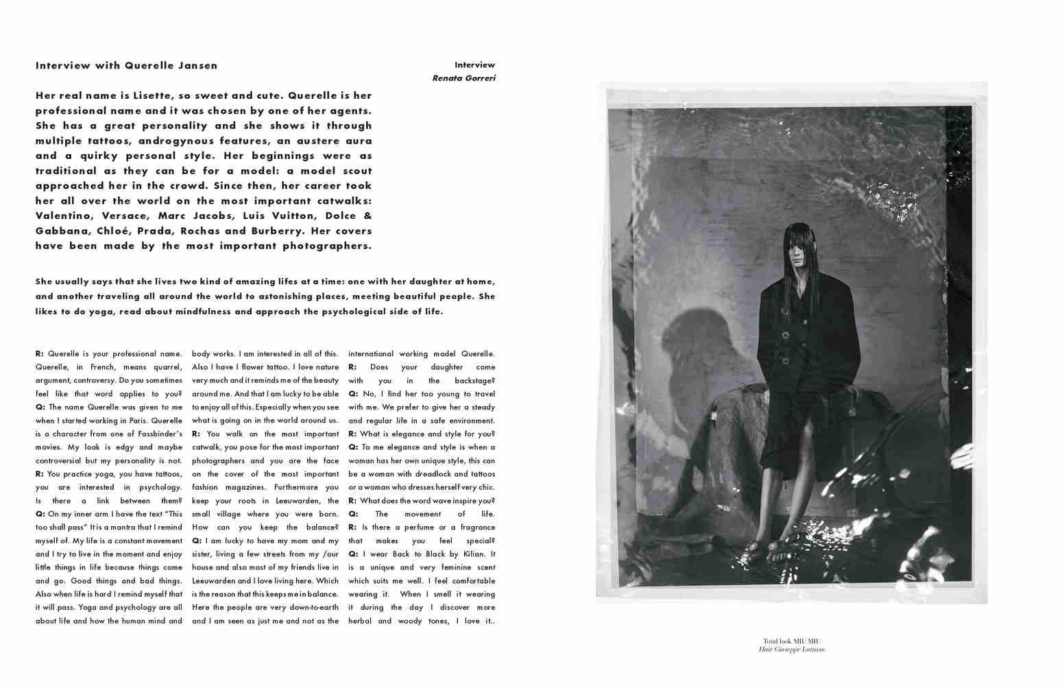Elisabetta Cavatorta Stylist - Under Water - Joseph Cardo - Mia Le Journal