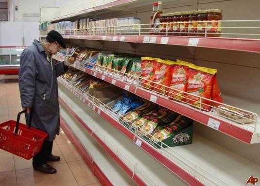 Crise en Russie - supermarché