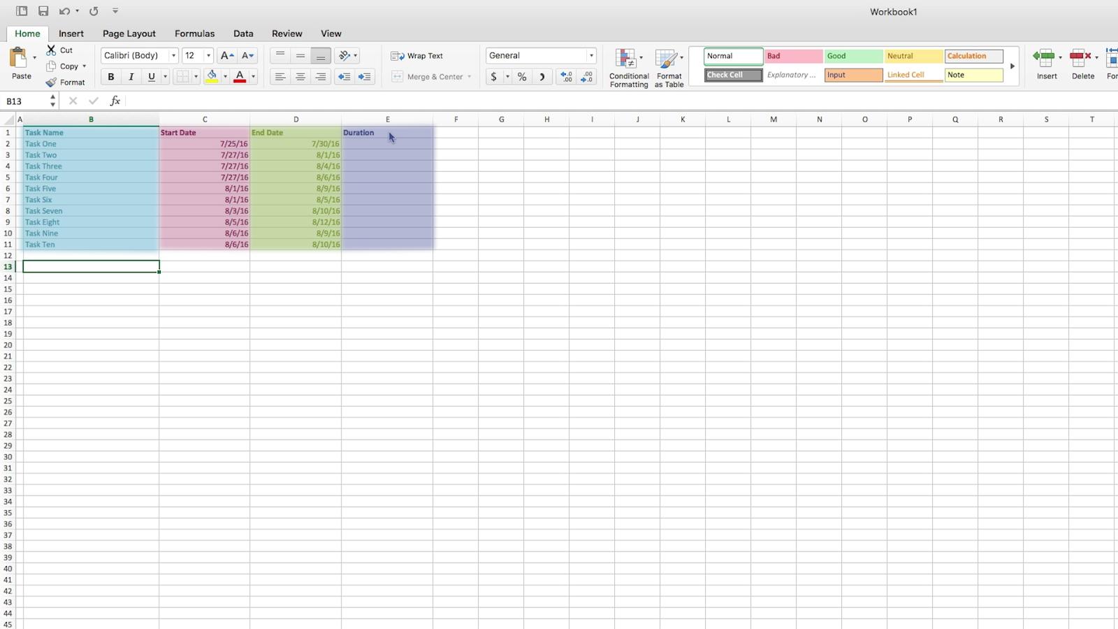 make your own gantt chart