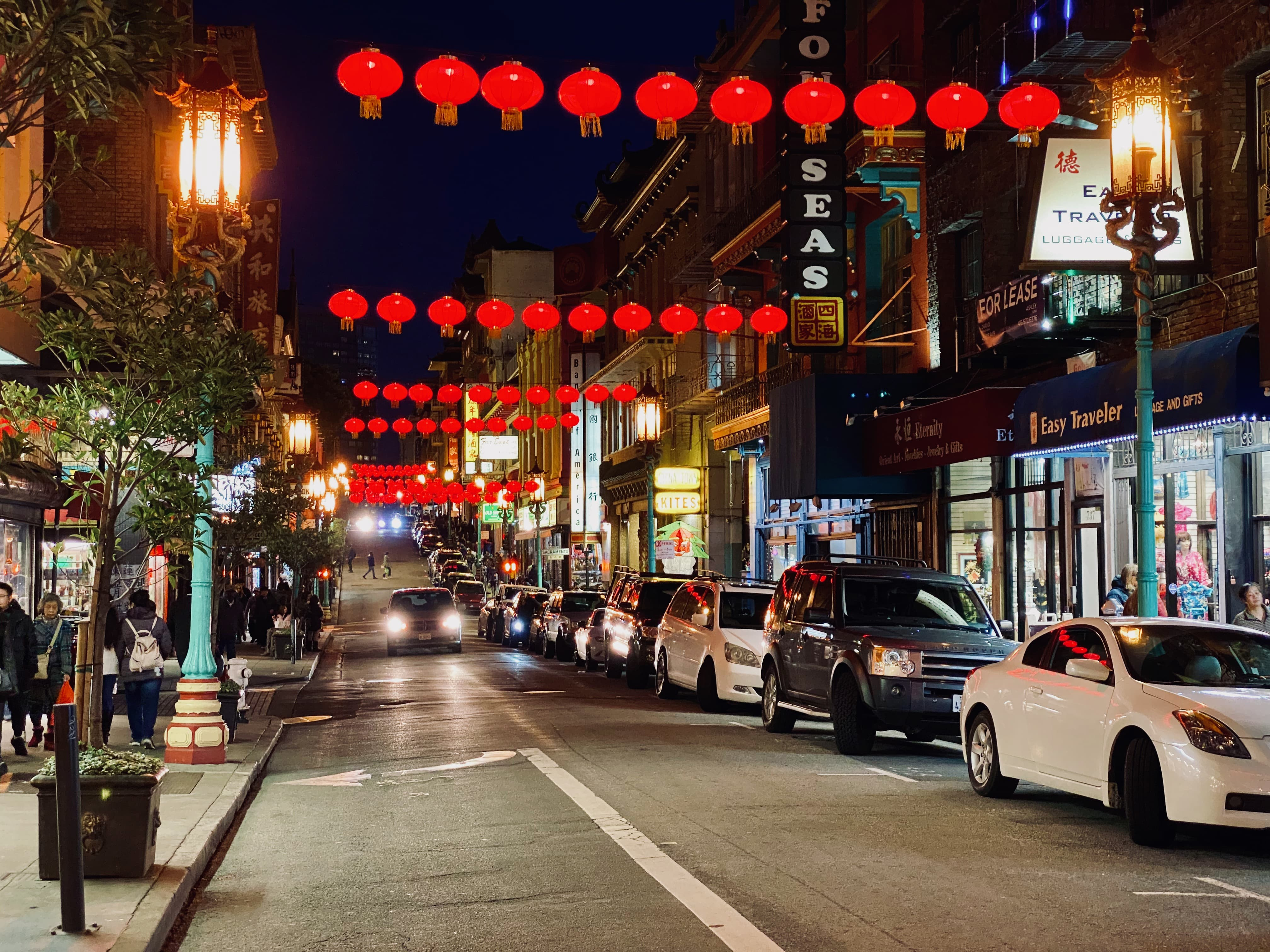 San Francisco's China town at night