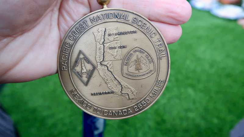 The Pacific Crest Trail medal