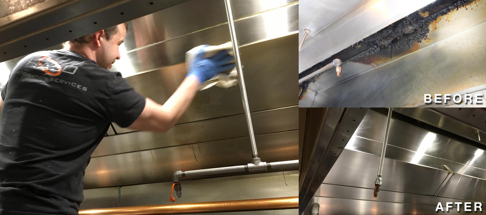 Cleaning a commercial vent a hood system in Dallas, Texas