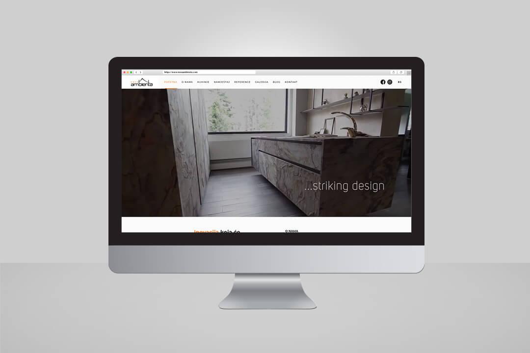 Project Nova Ambienta, Website Design, SEO Optimization