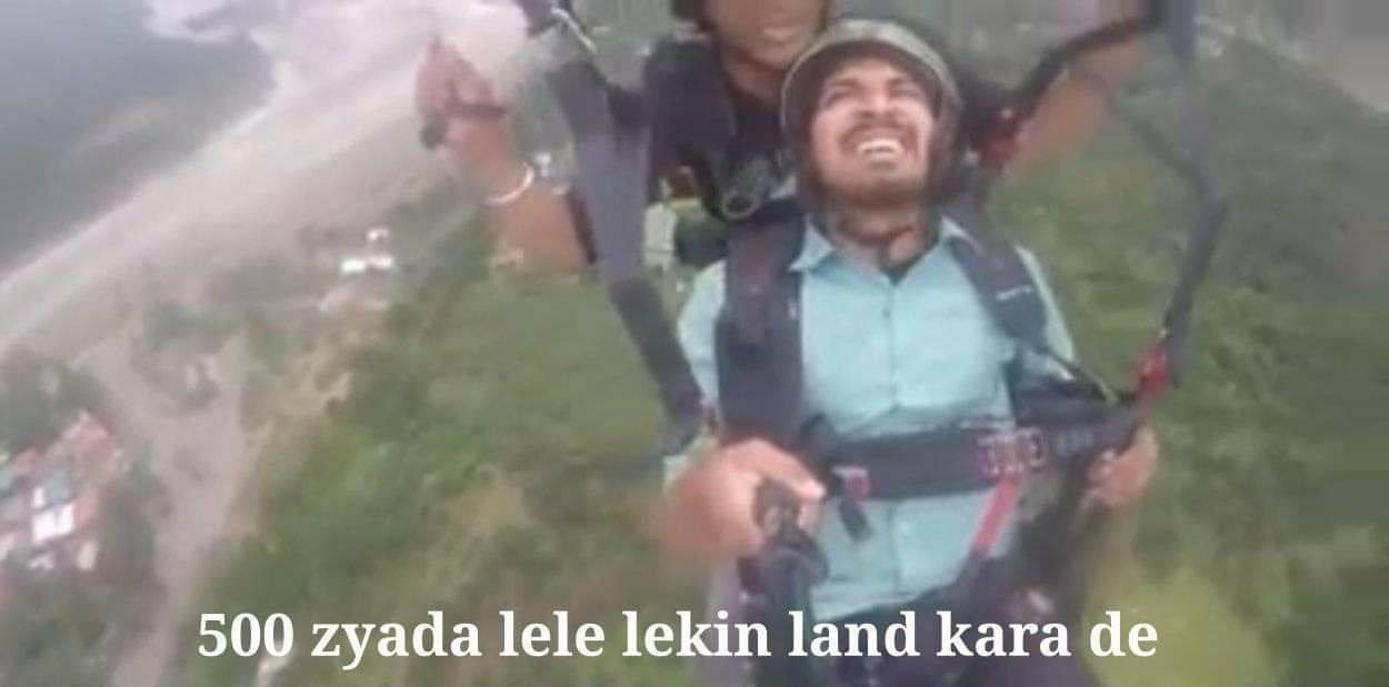 Paragliding Video 500 zyada lele par land kara de