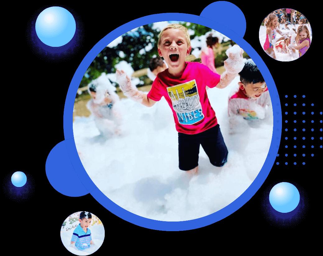 BubbleManiacs bubble and foam events.