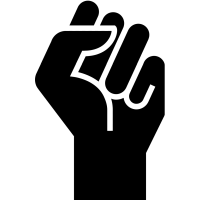 #BlackLivesMatter fist icon