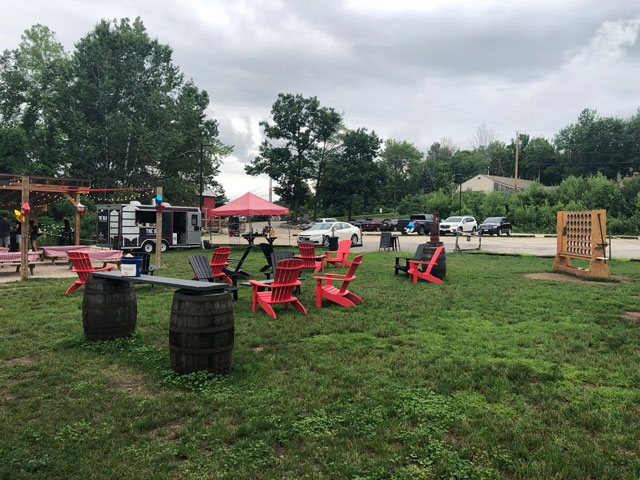 Twin Barns Outdoor Beer Garden in Meredith, NH