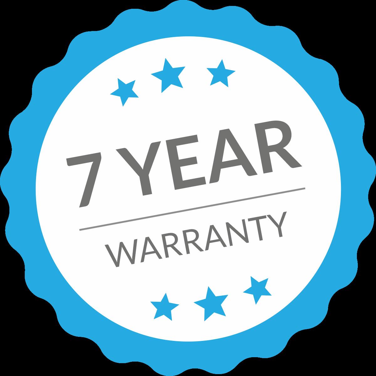 Intrior 7 year warranty