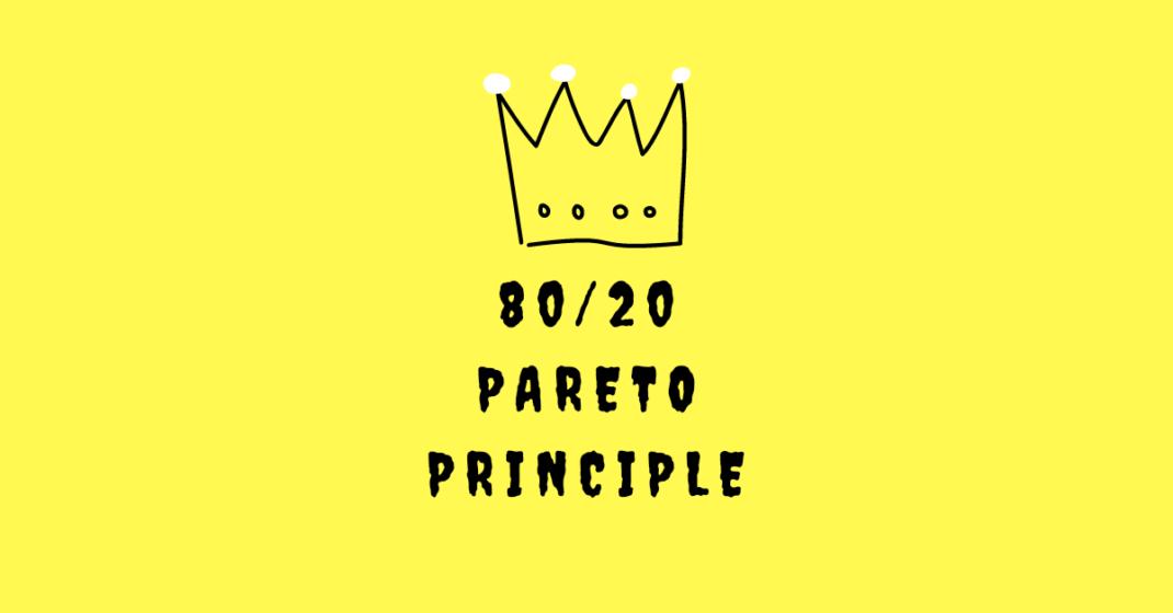 80/20 Pareto Principle, boss of all efficiency wisdom