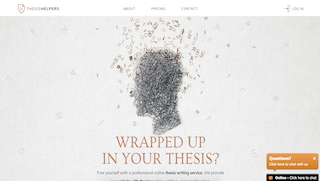 thesishelpers.com main page