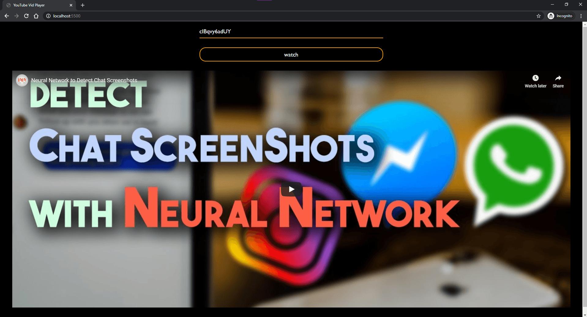 Look of the app