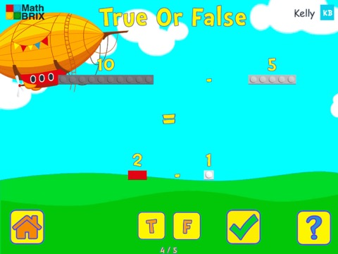 Compare two number sentences (addition and subtraction) Math Game