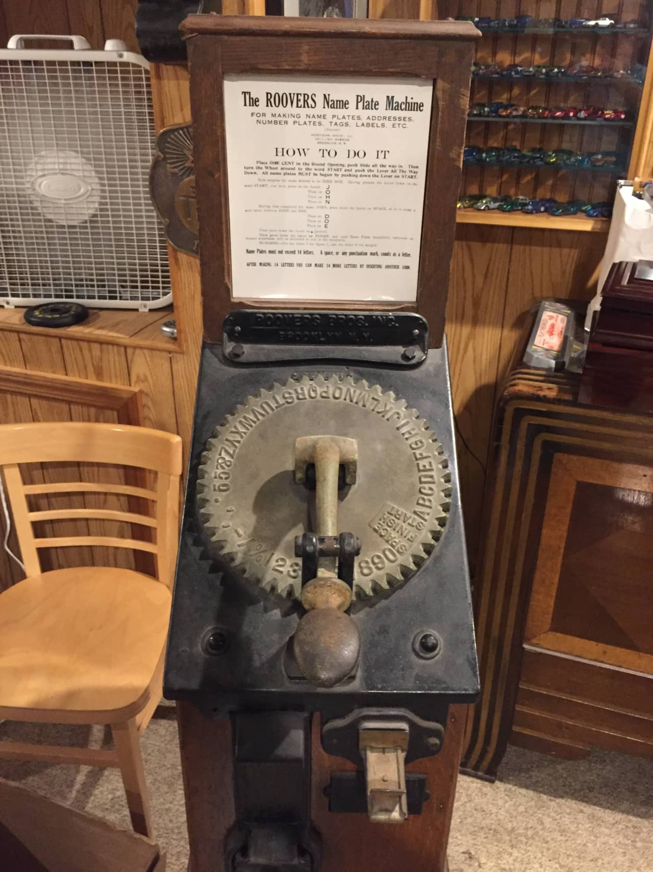 THE ROOVER'S NAME PLATE STAMPER MACHINE