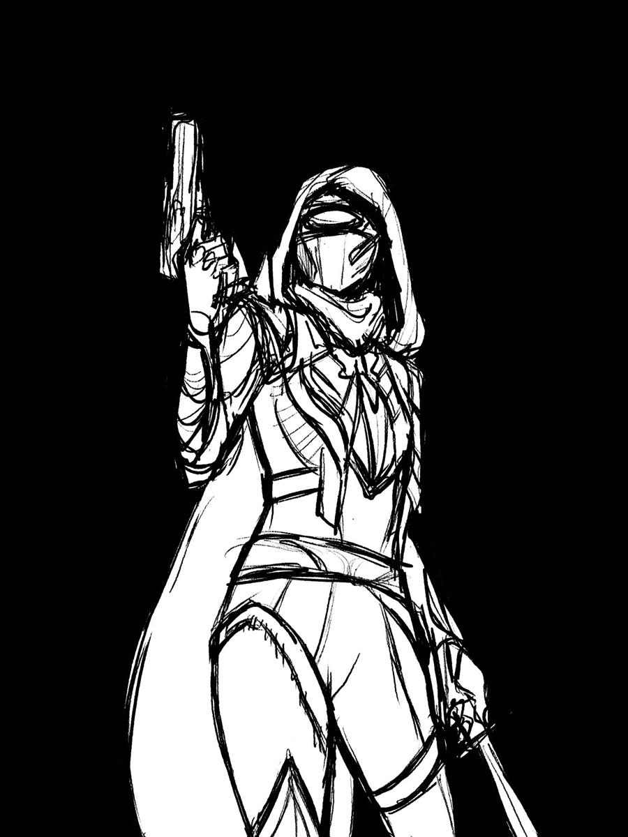 Hunter character in this season's celestial armor.