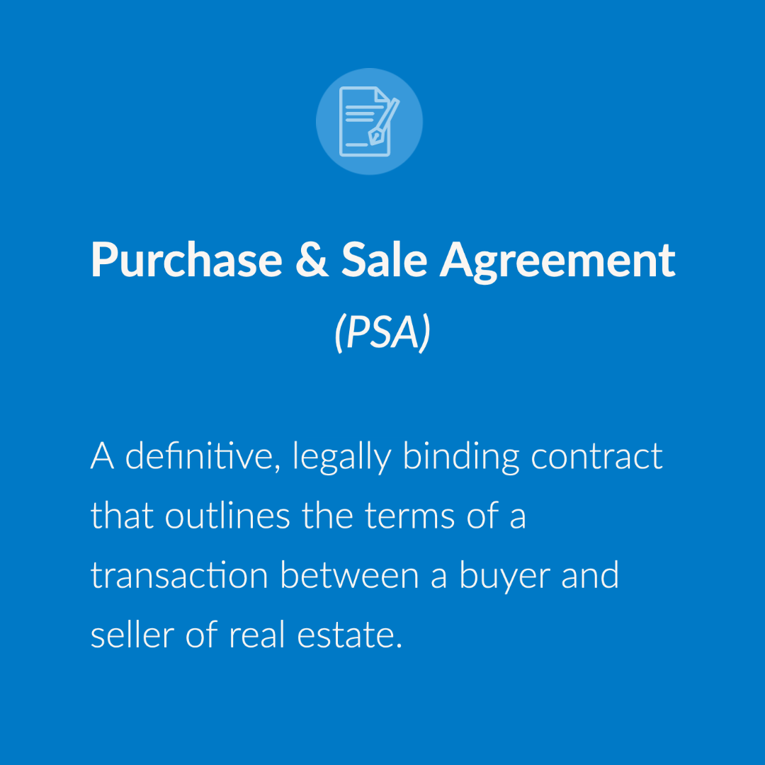 Image that defines as purchase and sale agreement.