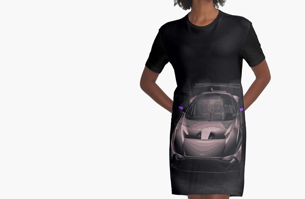 Women Graphic T-Shirt Dresses by thespeedart