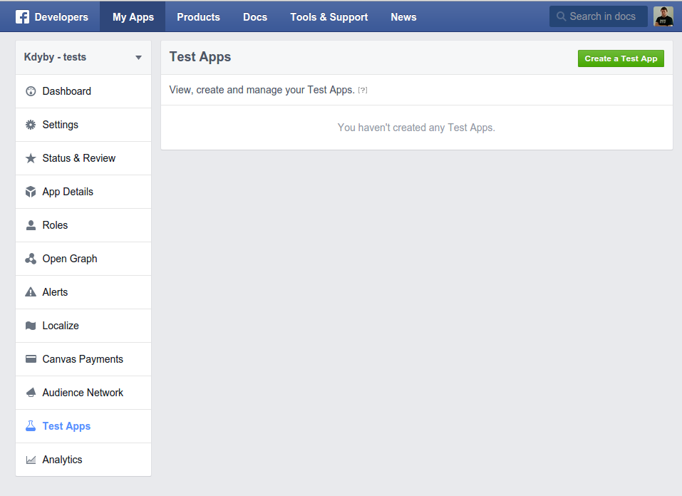 publikovani-na-fb-create-test-app
