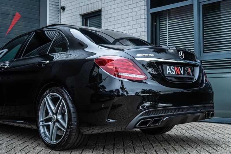 Mercedes-Benz C-Klasse 63 AMG, 476 PK, Pano/Dak, Distronic, Night/Pakket, Burmester, LED, Keyless, 30DKM, Nieuwstaat, BTW!! afbeelding 24