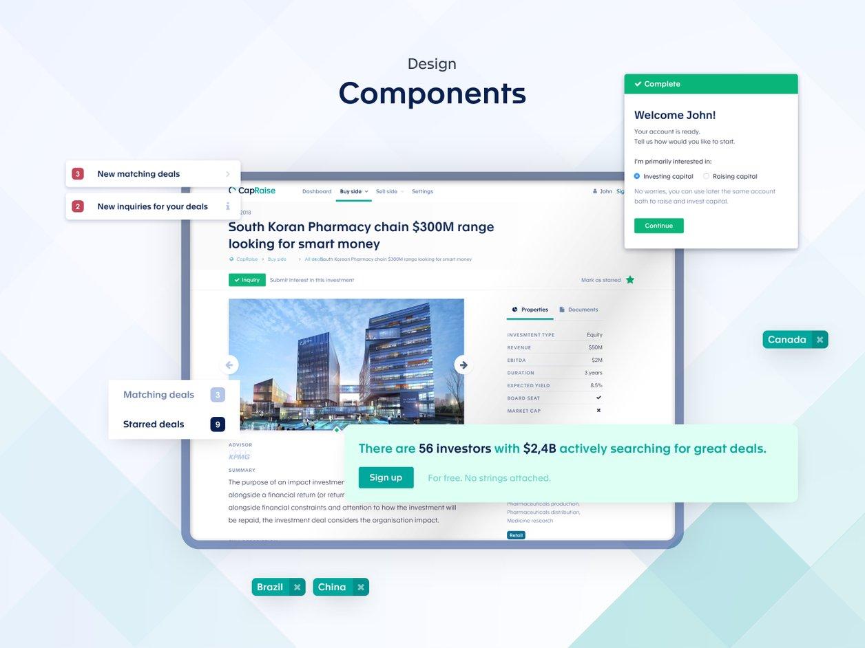 Interactive Prototype - UX Design   CapRaise