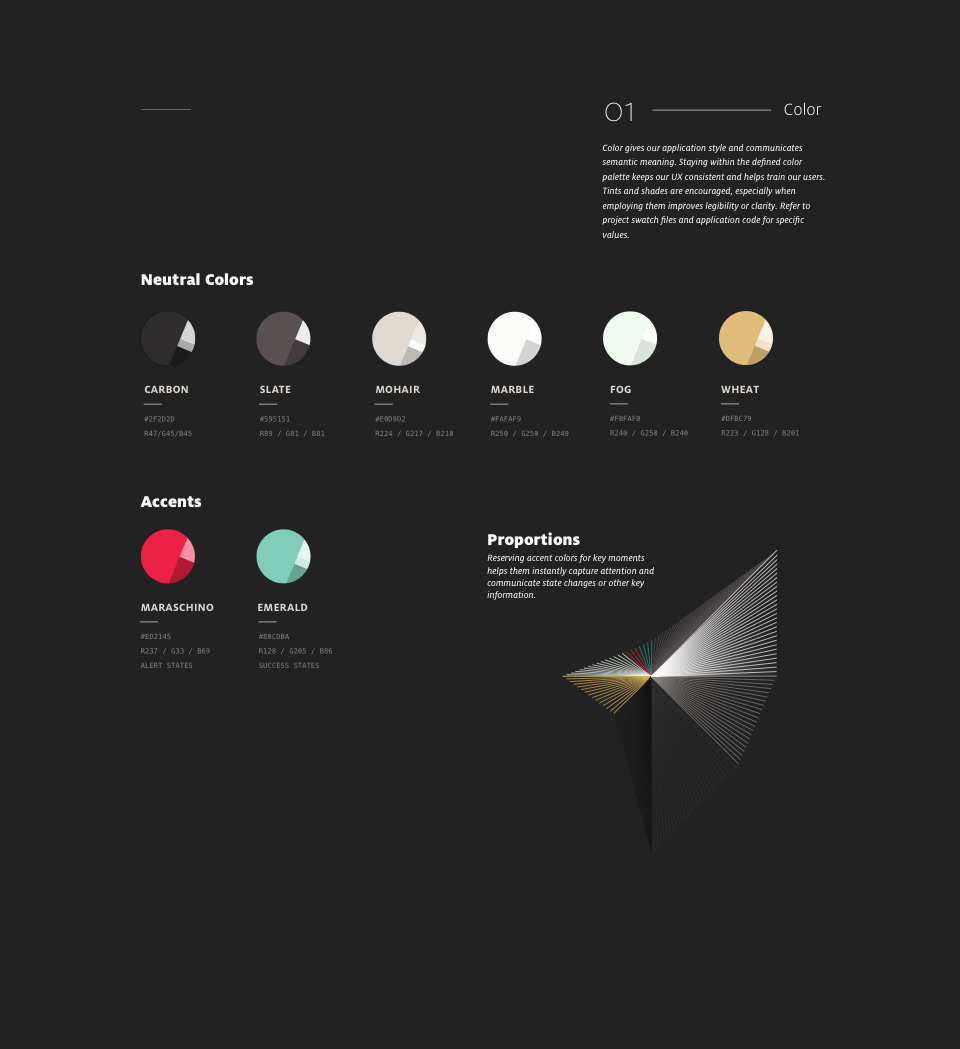 Brand standards color guidelines