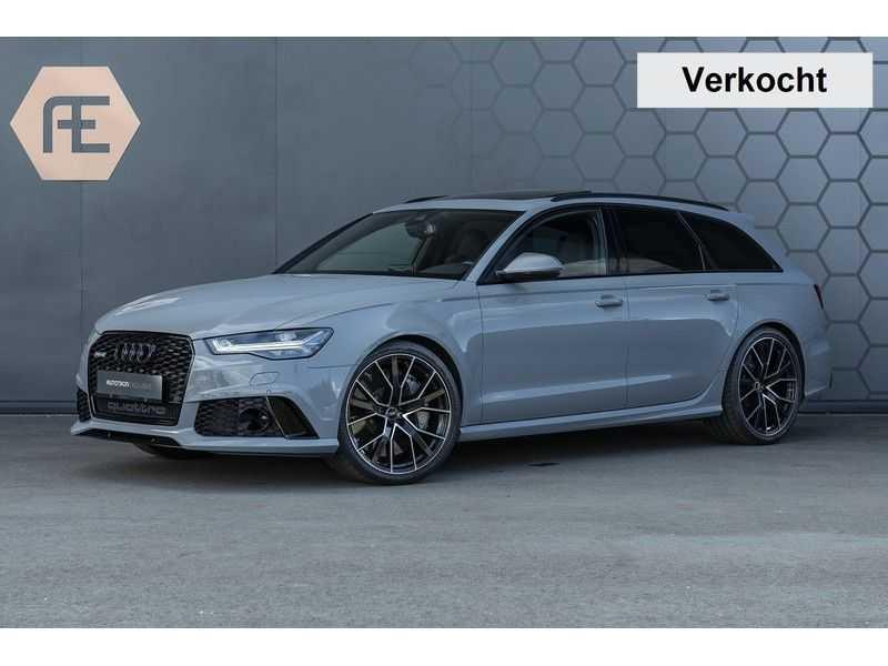 Audi RS6 Performance Pro Line Plus 4.0 TFSI quattro 605PK BTW + Keramisch + Carbon + Nardo Grey + Panoramadak + 4 nieuwe banden afbeelding 1