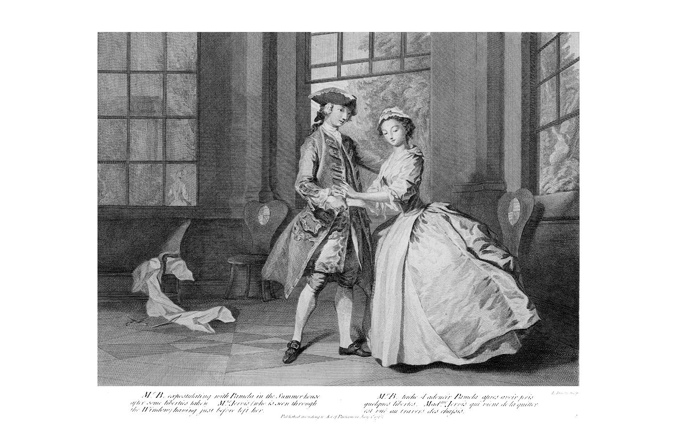 Иллюстрация Джозефа Хаймора к книге Сэмюэля Ричардсона «Памела, или Вознагражденная добродетель», 1762
