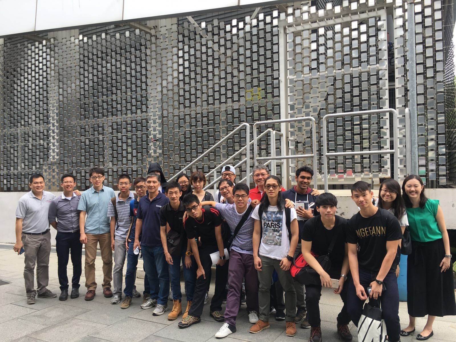 Satisfied faces after a fruitful visit to the Singapore District Cooling Plant.