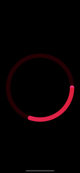 The second version of activity ring view