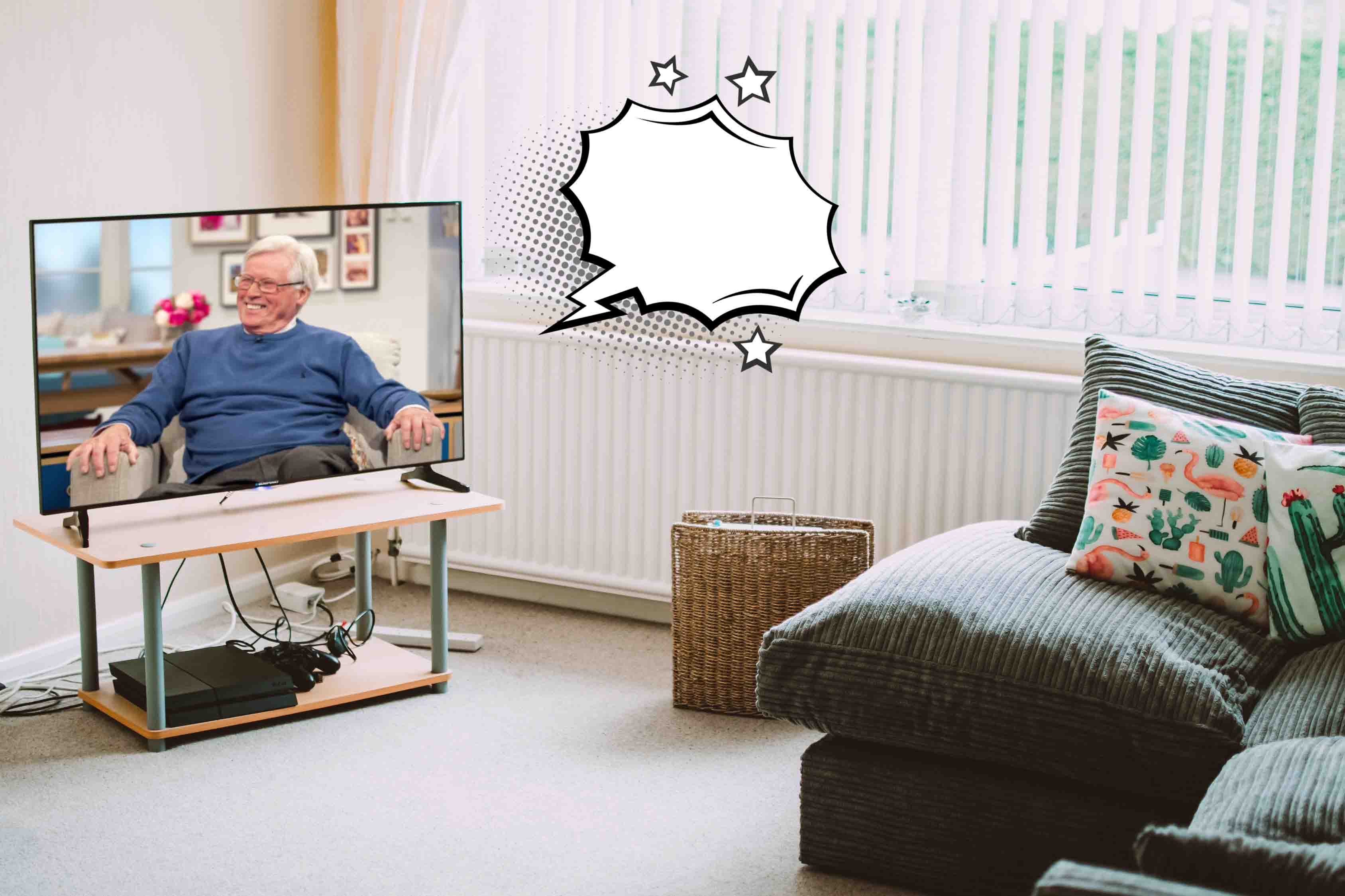 A happy John Craven after Countryfile's back on my curse-word-enabled TV! (Photo credit: Rex Features)