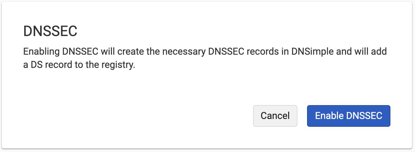 Enable DNSSEC