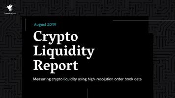 Crypto liquidity report - August 2019