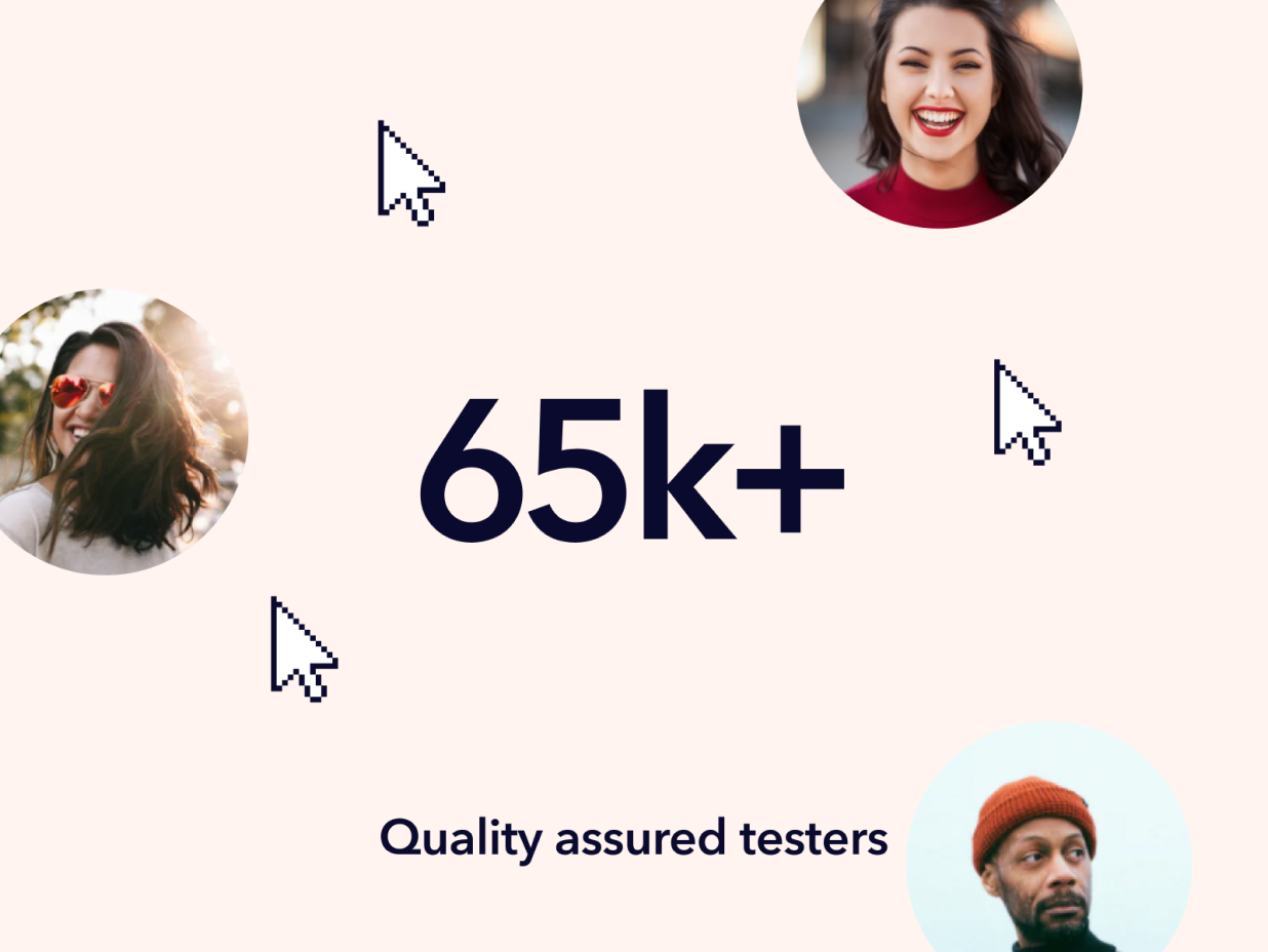 More than 65000 Quality Assured Testers