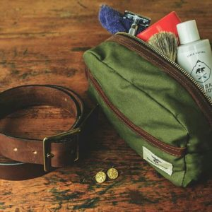 Dopp Kit and a belt