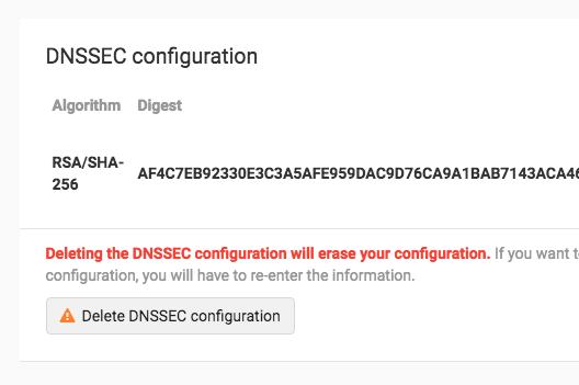 Delete DS Record
