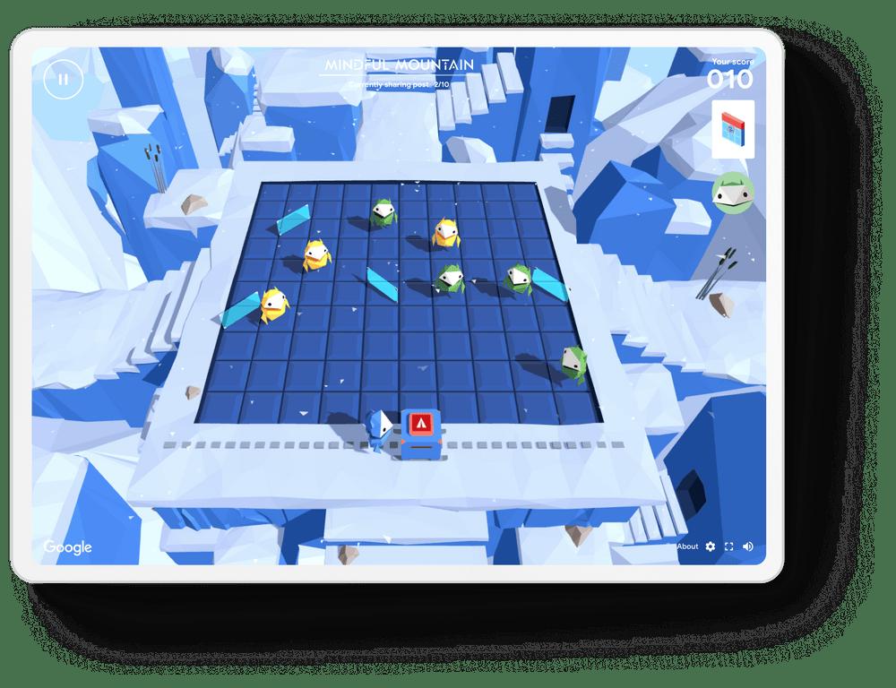 Google Interland on tablet