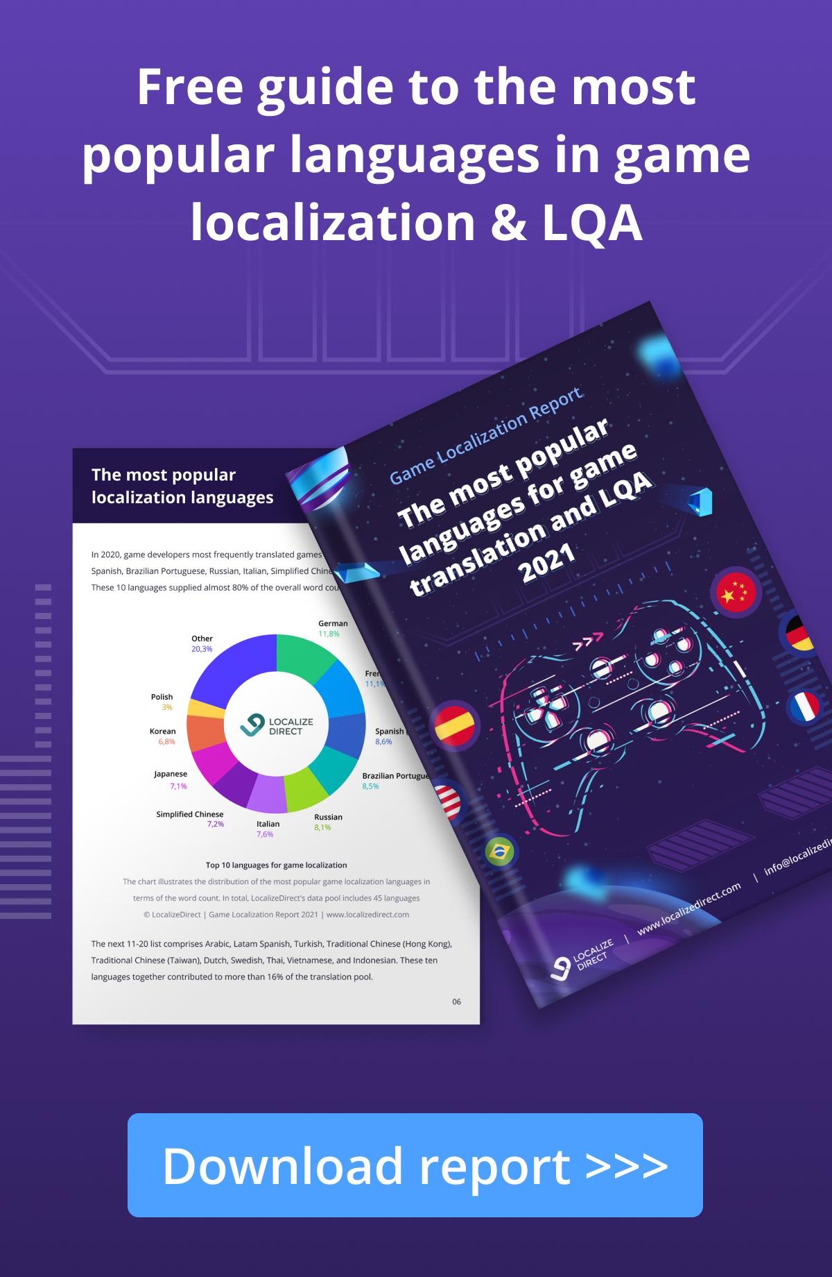 2021 Game Localization Report | LocalizeDirect