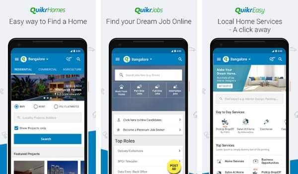 Quikr Online Used Product Shopping App