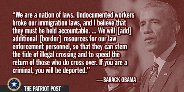Barack Hussein Obama on illegal immigration