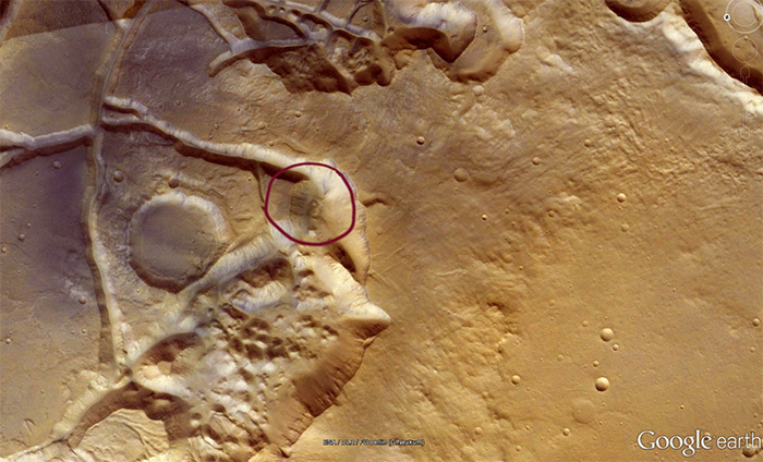 Number 58 on Mars surface