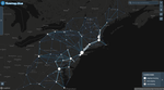 Mapping BosWash commuter patterns with Flowmap.blue