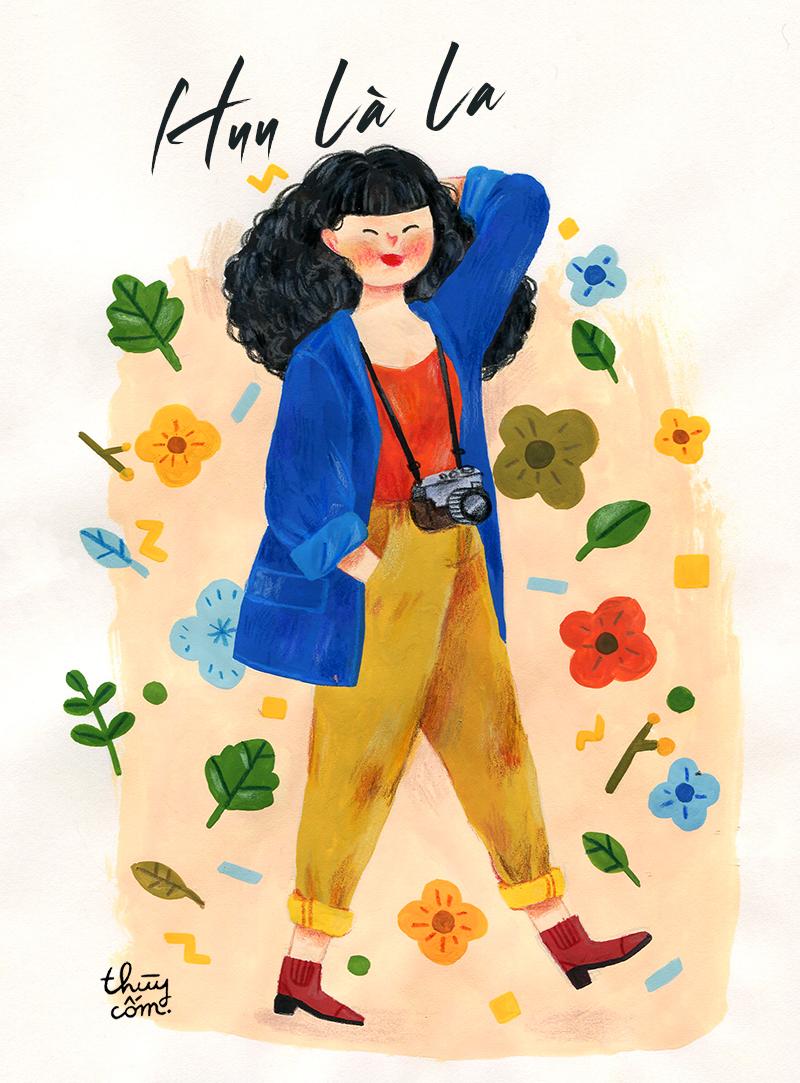A portrait for a friend - Huu | Gouache & colored pencils