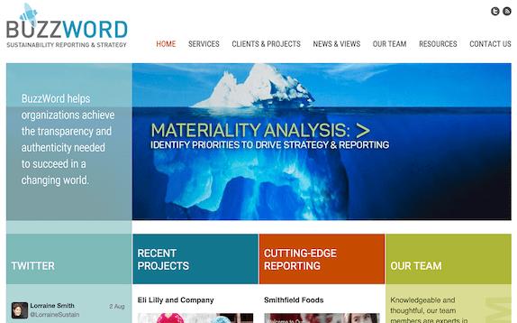 Screenshot of BuzzWord website, gobuzzword.com