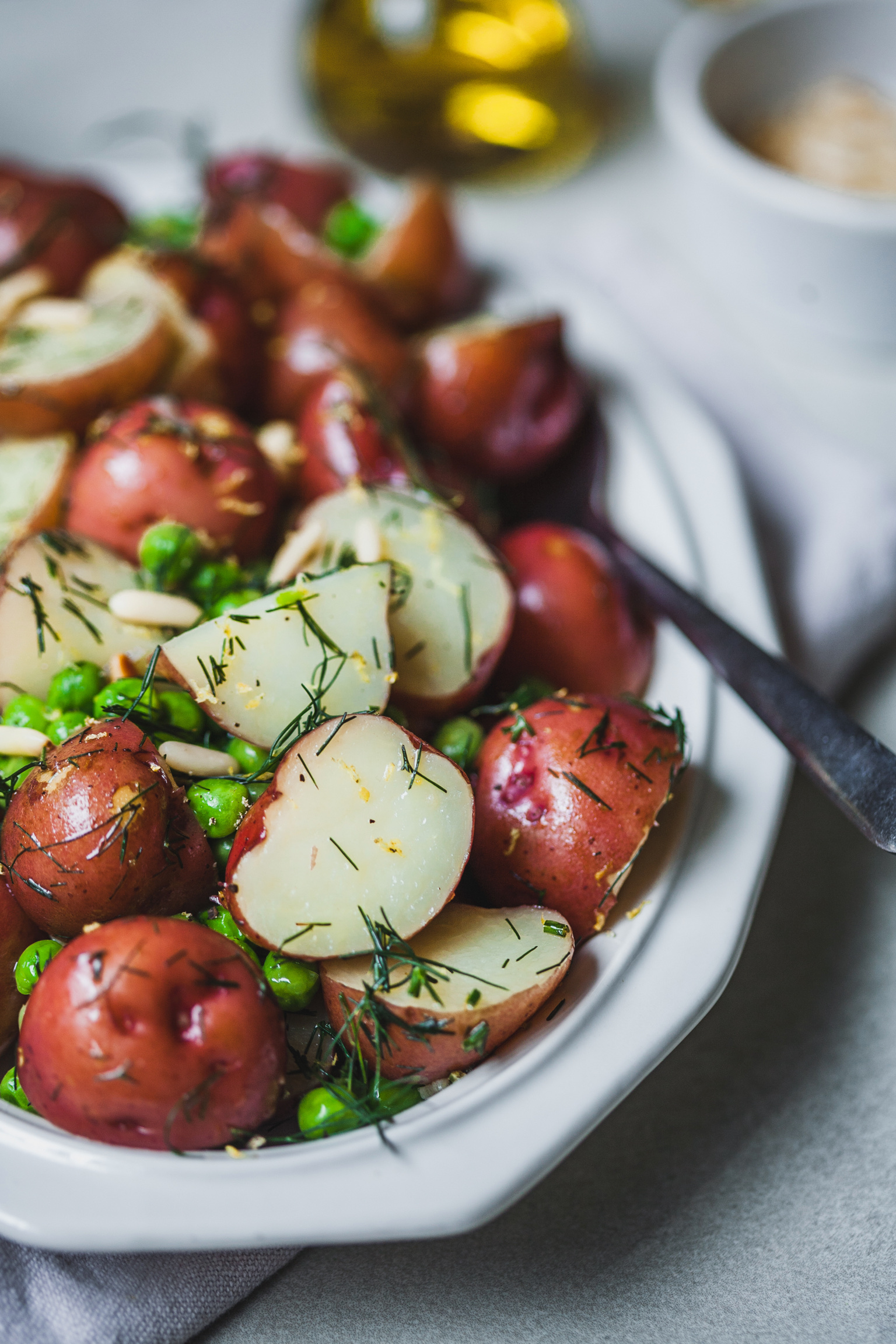 Buttery Dilled Red Potatoes and Peas