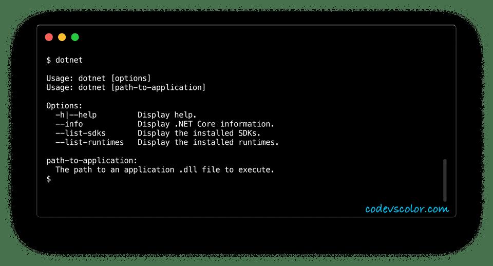 run c sharp program from the terminal